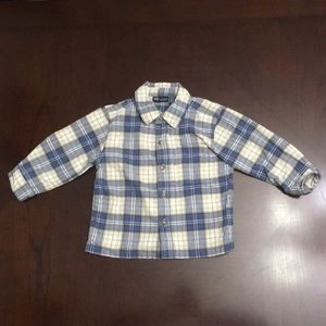 Other - Blue/tan plaid button down shirt